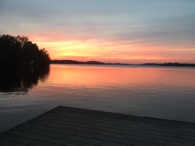 solnedgång vid mälaren sept